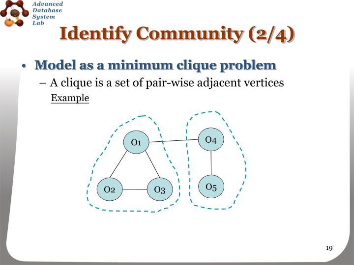 Identify Community (2/4)