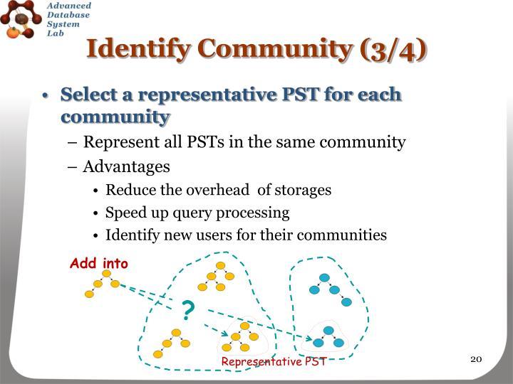 Identify Community (3/4)