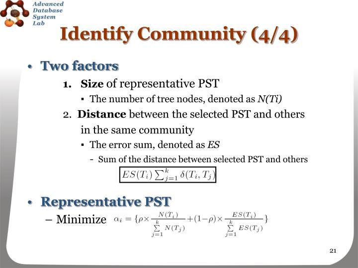 Identify Community (4/4)