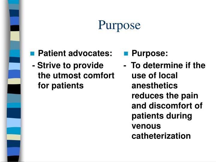 Patient advocates: