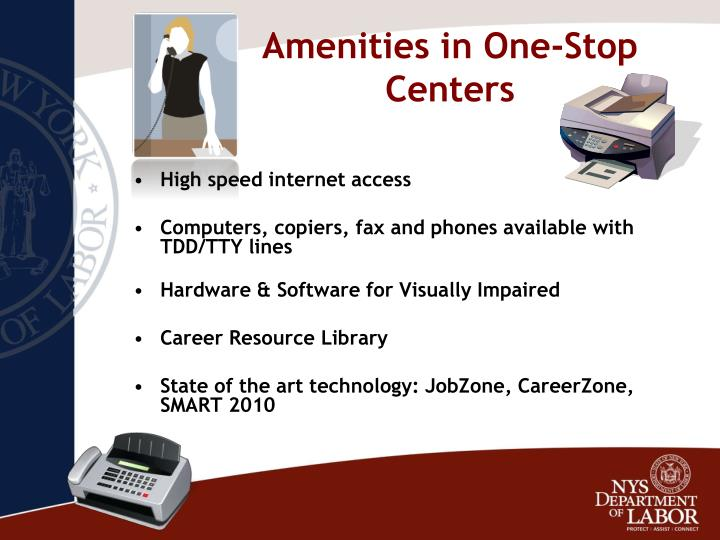 Amenities in One-Stop Centers