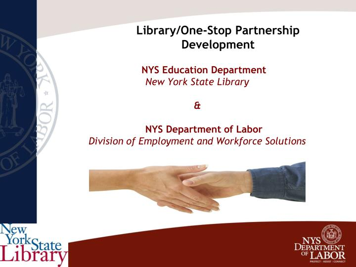 Library one stop partnership development