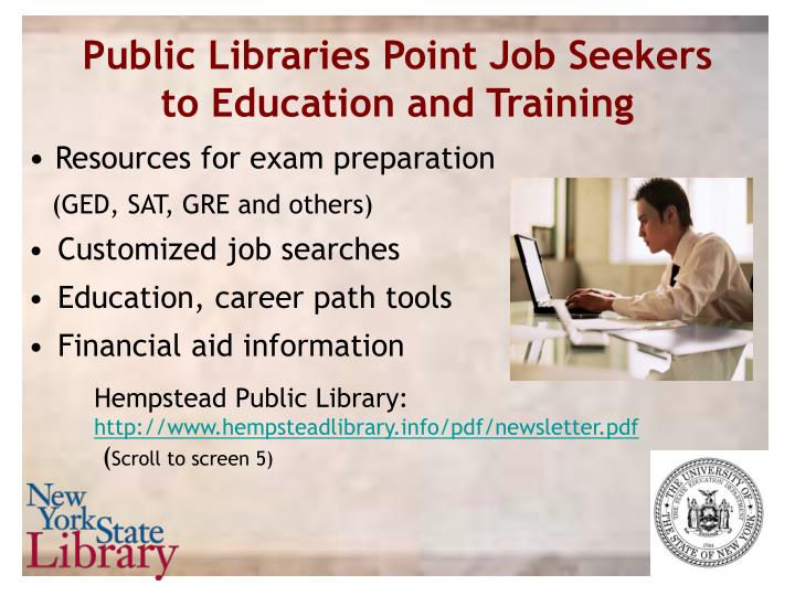 Public Libraries Point Job Seekers to Education and Training