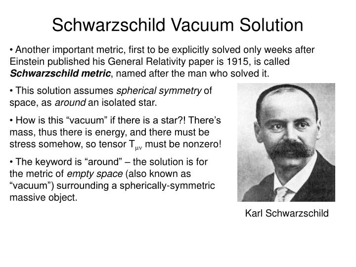 Schwarzschild Vacuum Solution