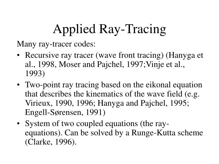Applied Ray-Tracing