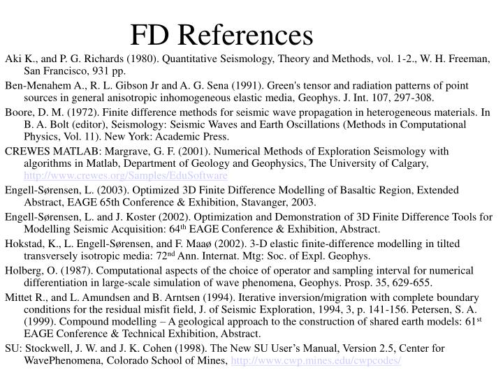 FD References