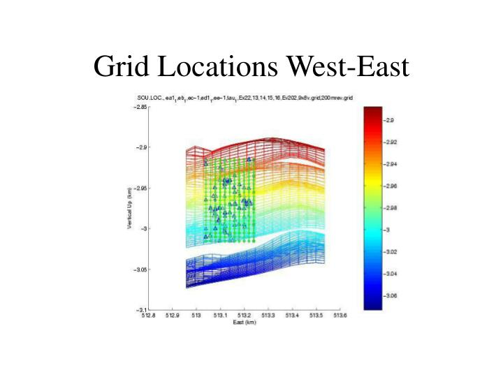 Grid Locations West-East