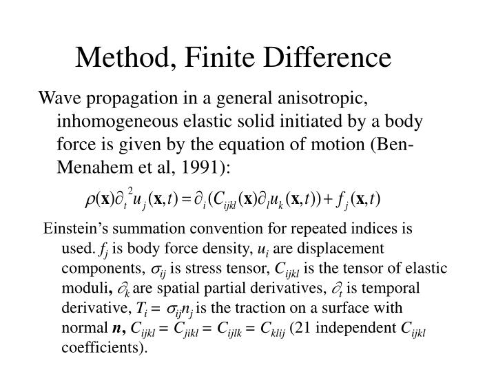 Method, Finite Difference