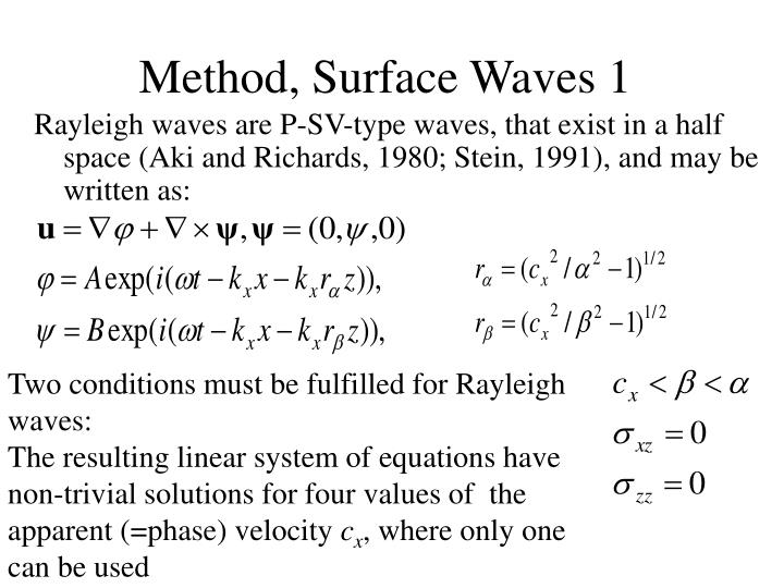 Method, Surface Waves 1