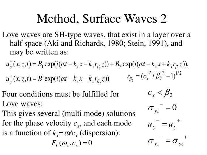 Method, Surface Waves 2