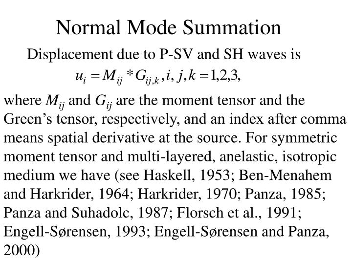 Normal Mode Summation