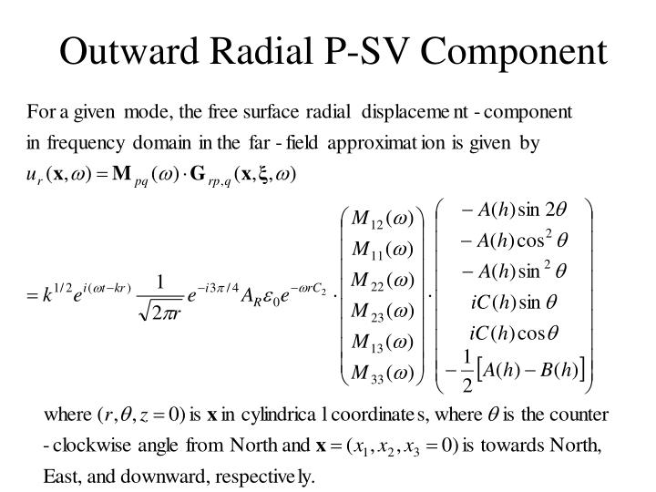 Outward Radial P-SV Component
