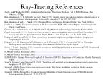 ray tracing references