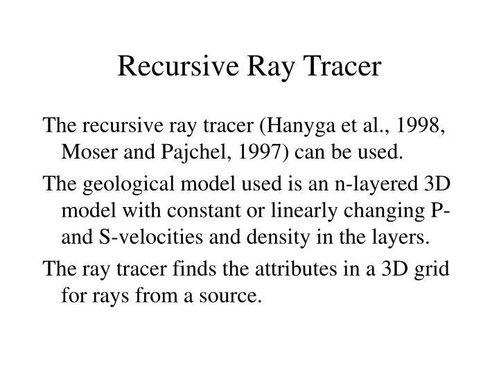Recursive Ray Tracer