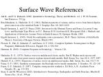 surface wave references