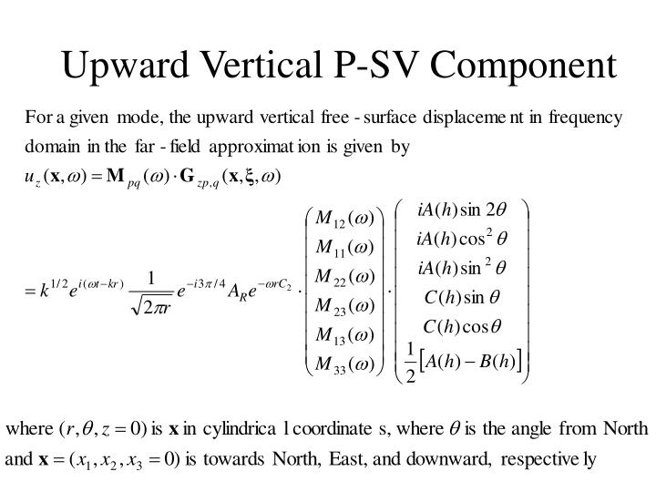 Upward Vertical P-SV Component