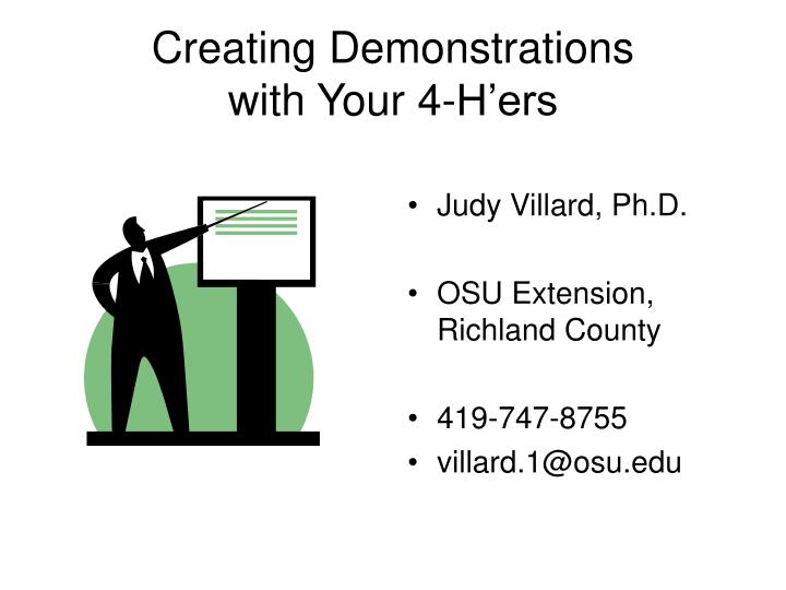 Creating demonstrations with your 4 h ers