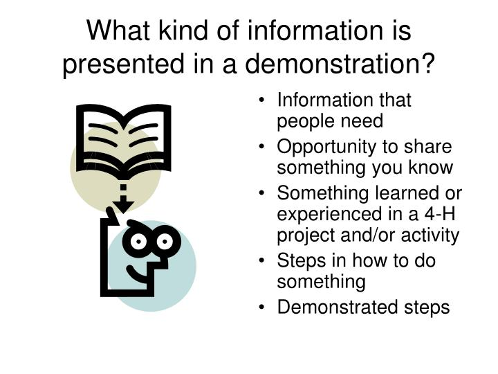 What kind of information is presented in a demonstration