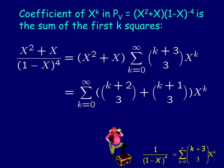 Coefficient of X