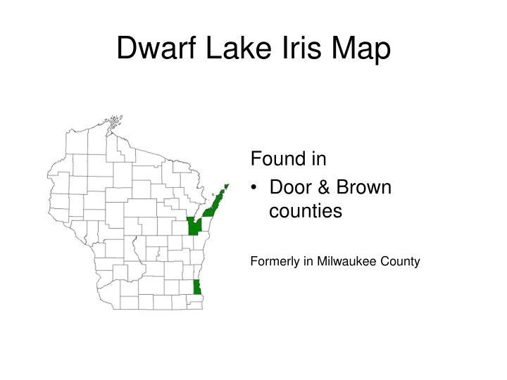 Dwarf Lake Iris Map