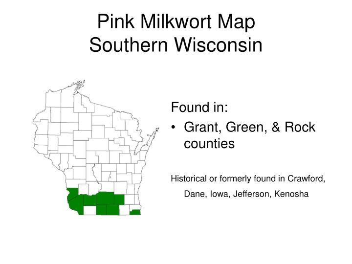 Pink Milkwort Map