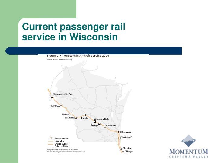 Current passenger rail