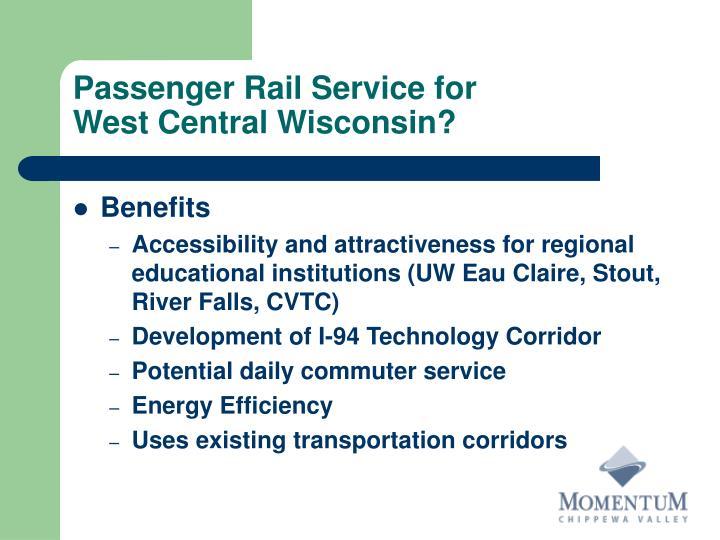 Passenger Rail Service for