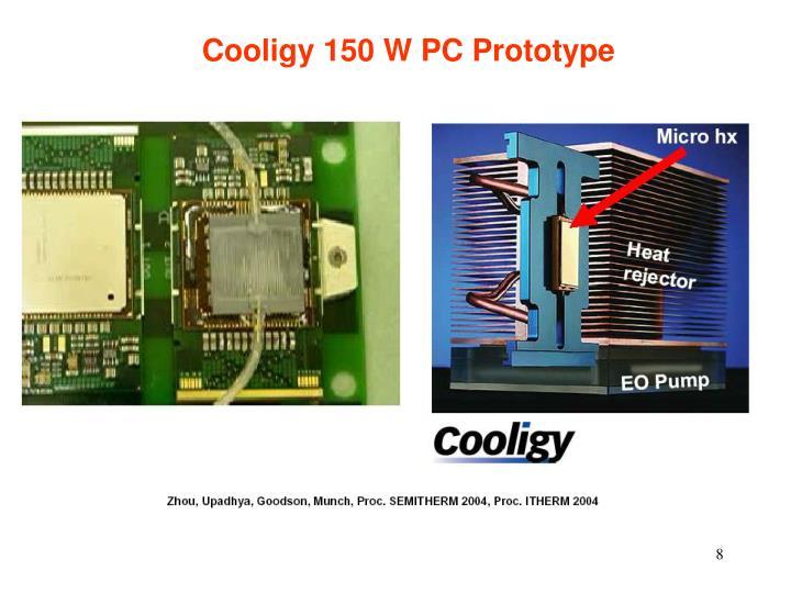 Cooligy 150 W PC Prototype