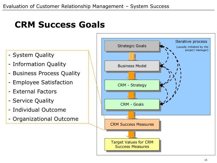CRM Success Goals