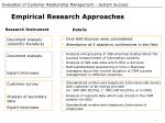 empirical research approaches