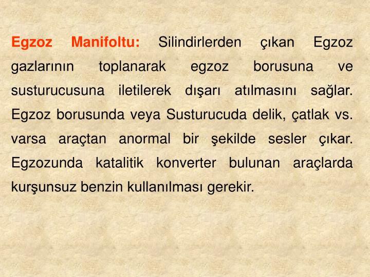 Egzoz Manifoltu: