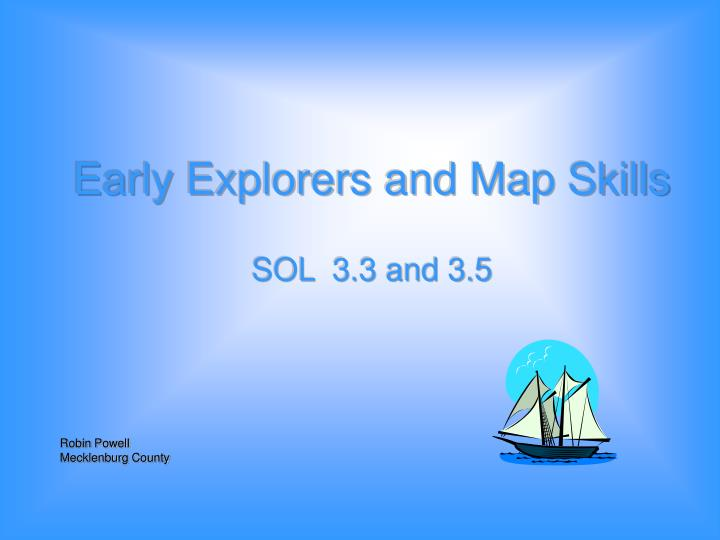 Early explorers and map skills