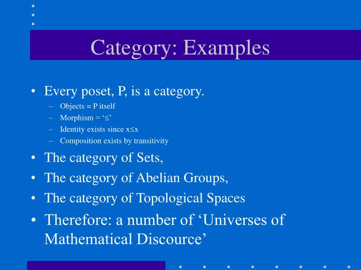 Category: Examples