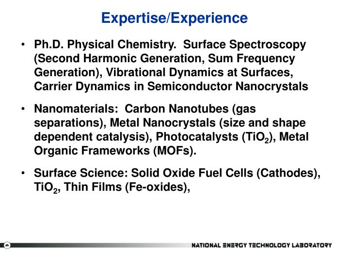 Expertise/Experience