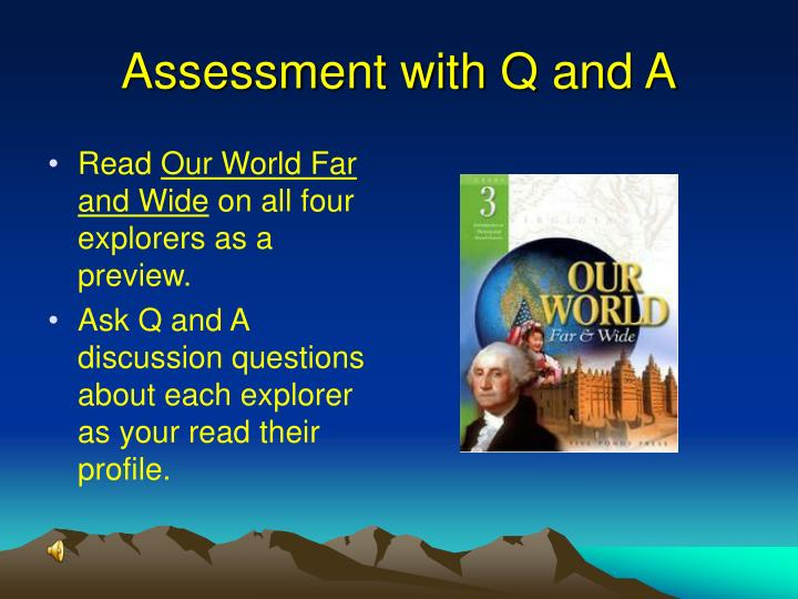 Assessment with Q and A