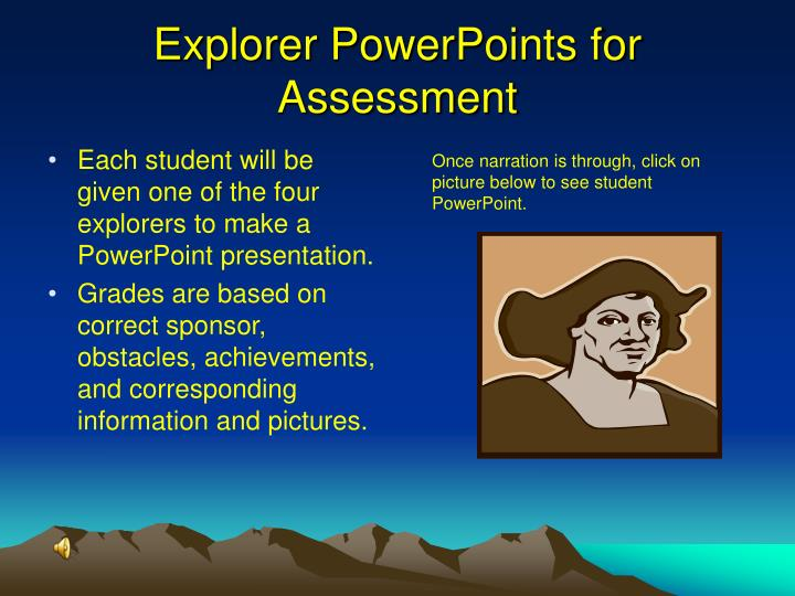 Explorer PowerPoints for Assessment