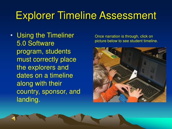 Explorer Timeline Assessment