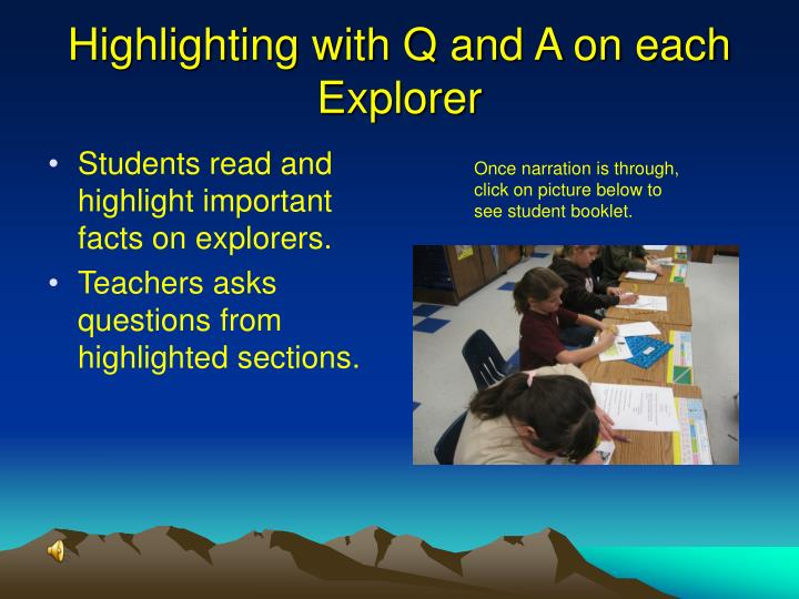 Highlighting with Q and A on each Explorer