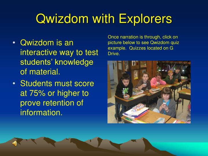 Qwizdom with Explorers