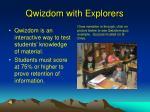 qwizdom with explorers
