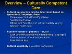 overview culturally competent care