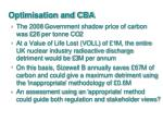optimisation and cba1