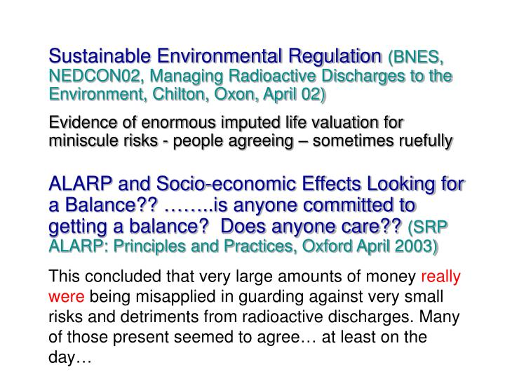 Sustainable Environmental Regulation