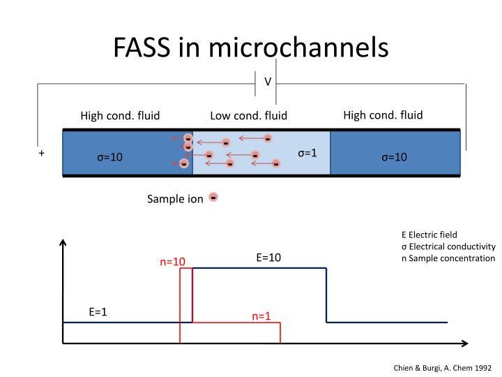 FASS in microchannels