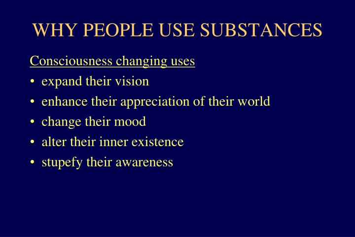 Why people use substances1