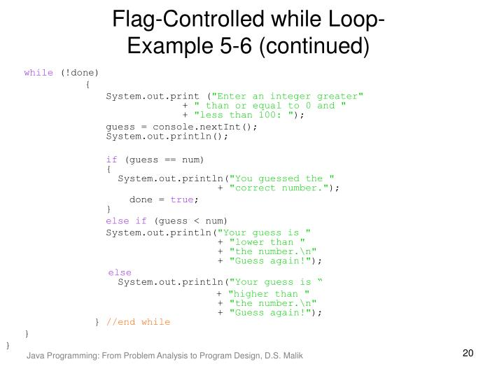 Flag-Controlled while Loop-