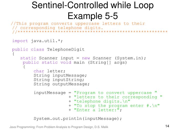 Sentinel-Controlled while Loop