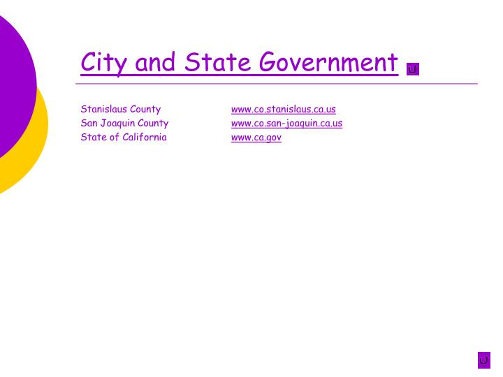 City and State Government