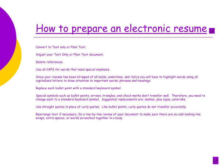 How to prepare an electronic resume