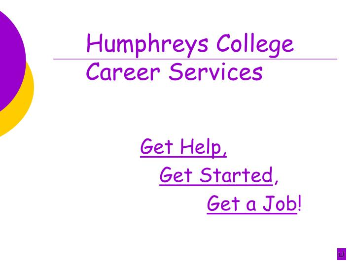 Humphreys college career services